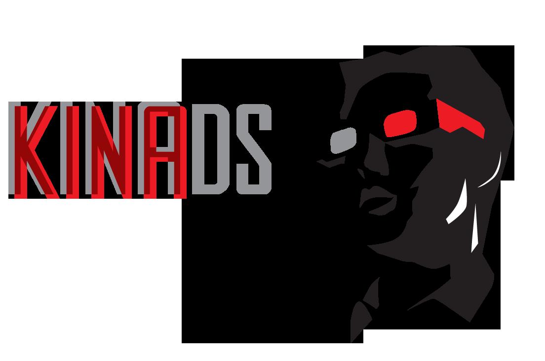 """Logo partnera: Firma """"Kinads"""" Reklama w Kinie"""